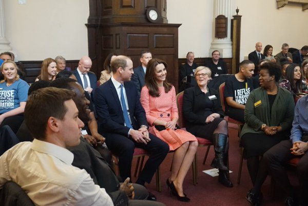 William and Kate listen to young people tell their stories at XLP 1