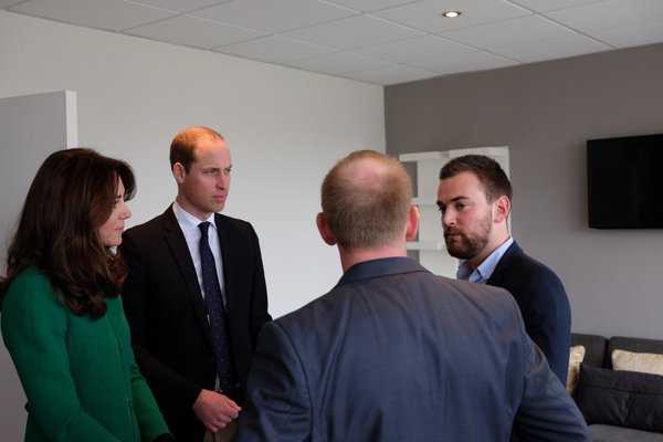 William and Kate meet Jonny and Neil