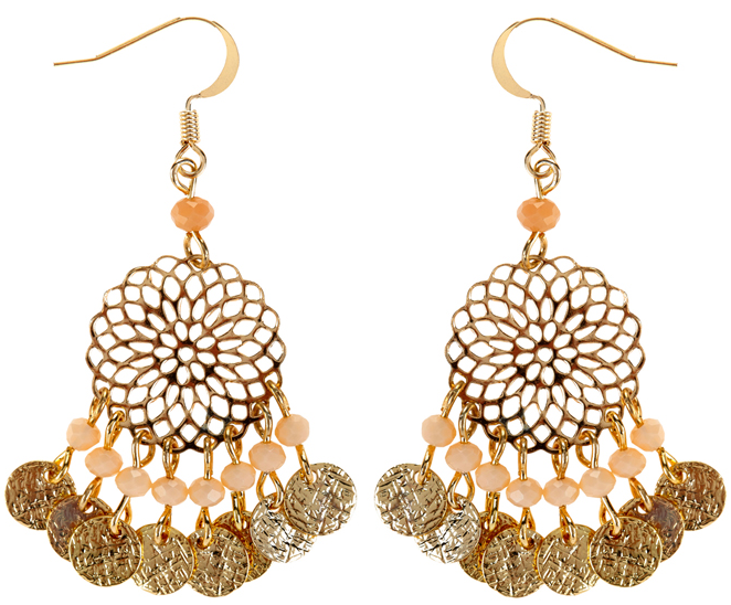 Accessorize Filigree Bead Short Drop Earrings