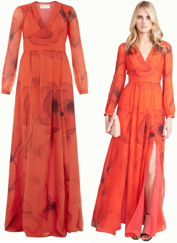 Beulah London Juliet red poppy gown