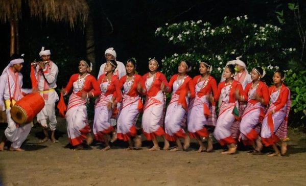 Campfire celebration dancers