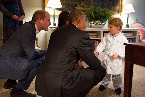 George meets Obama