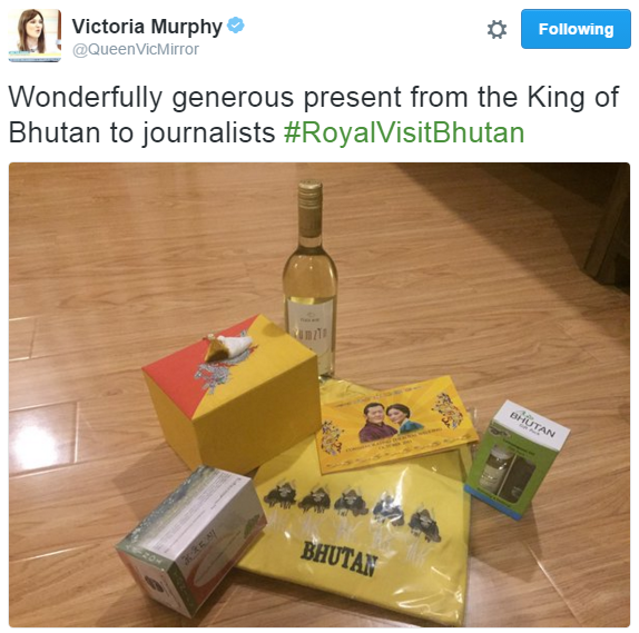 Journalist gift bag 1