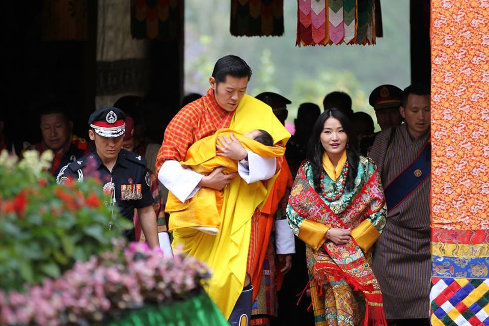 King, Queen, and The Gyalsey naming ceremony 1