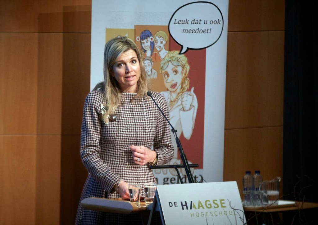 Queen Maxima joining money speech