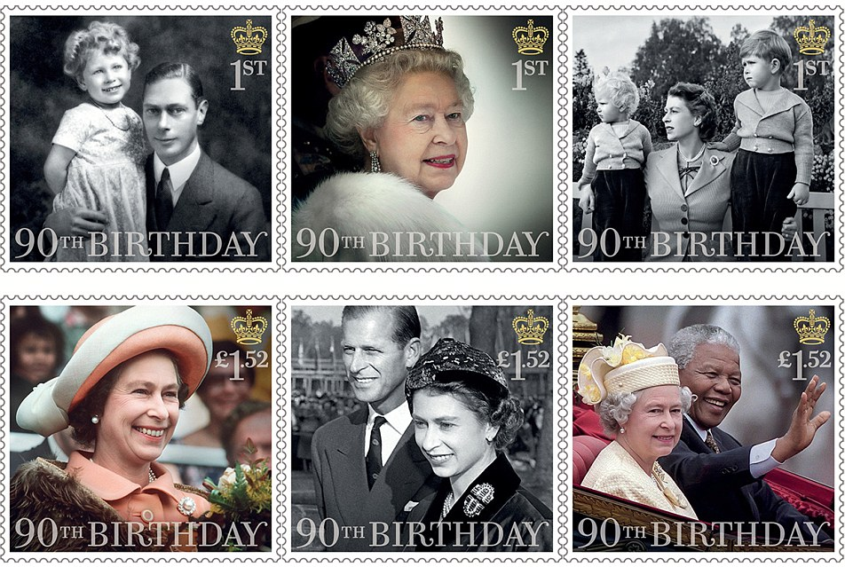 Queen's 90th birthday stamps 2