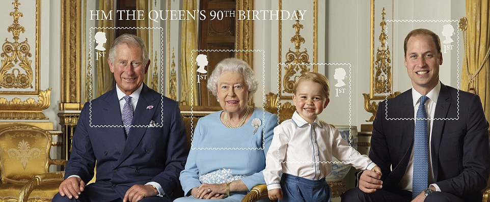 Queen's 90th birthday stamps