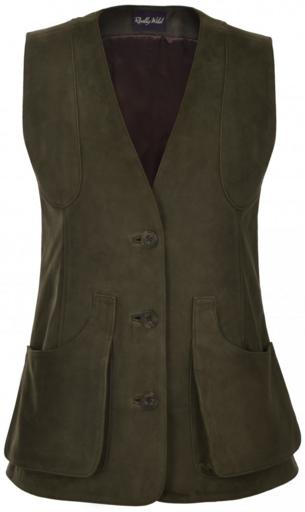 Really Wild Nubuck Waistcoat in olive green