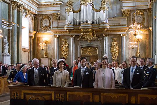 Swedish royals at Te Deum for Alexander