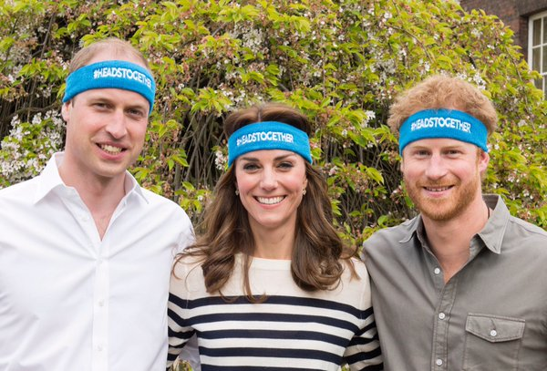 William, Kate, Harry HeadsTogether campaign launch