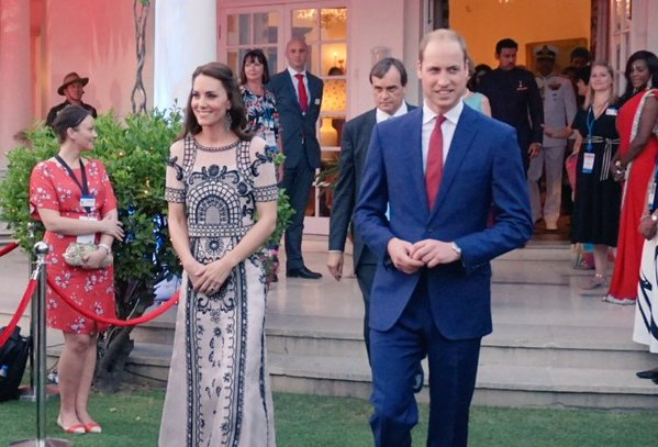 William and Kate arrive at Queen's birthday garden party