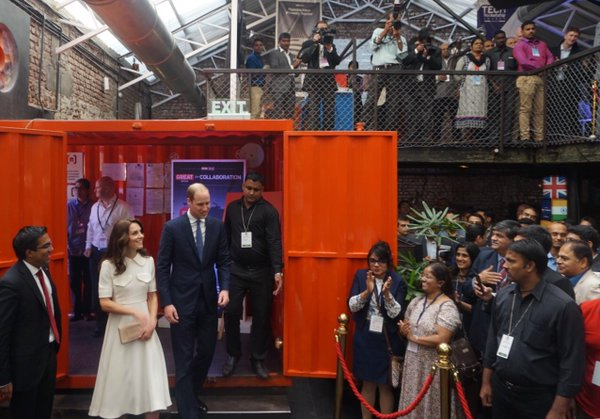 William and Kate arrive at Social Offline