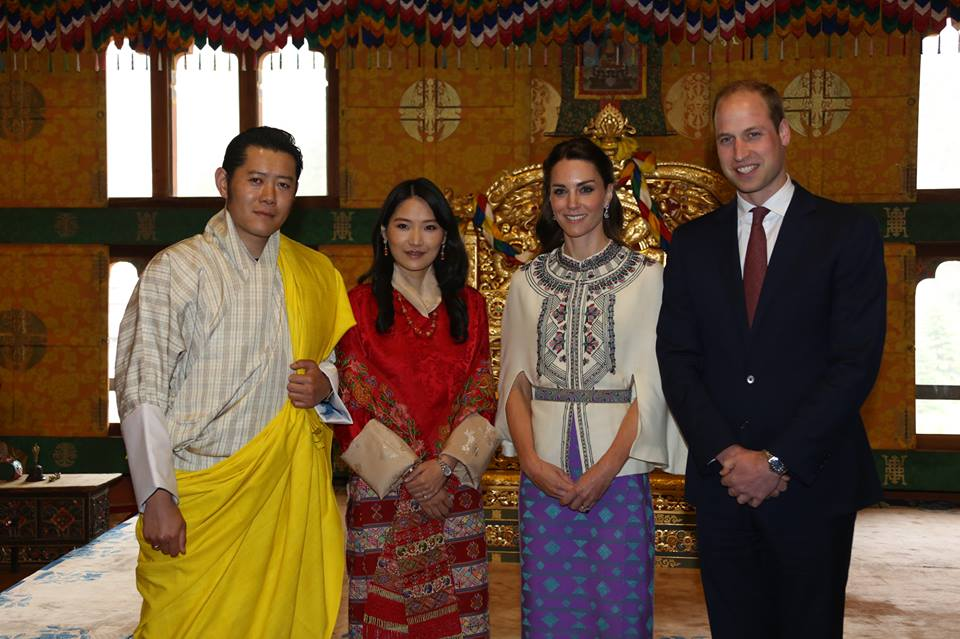 William and Kate audience with King and Queen of Bhutan