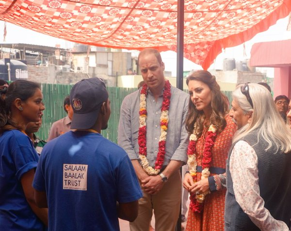 William and Kate visits Salaam Baalak Trust 1