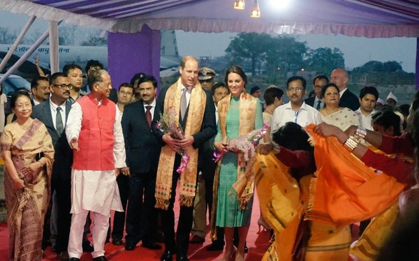 William and Kate welcome in Assam