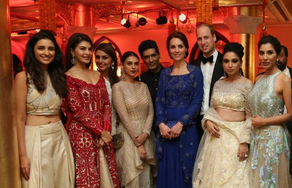 William and Kate with Bollywood stars