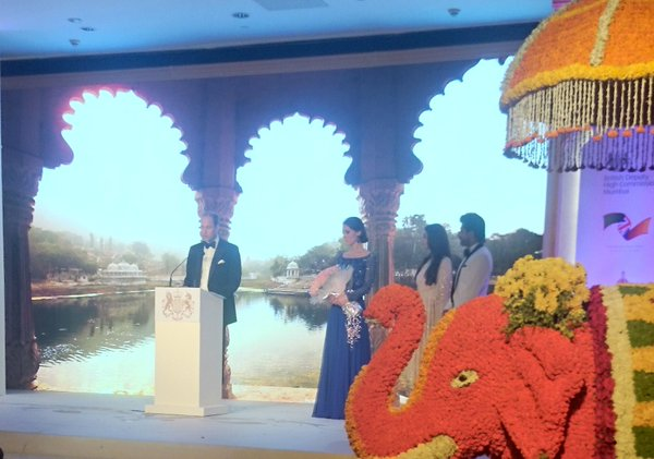 William gives speech at Bollywood gala