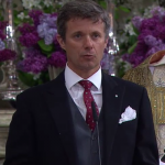 Frederik speaks during Christening