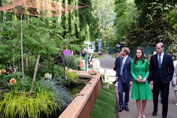 Kate, William, Harry at Chelsea Flower Show 2