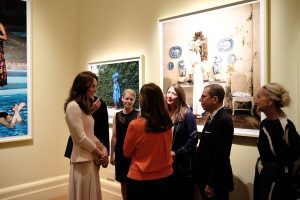 Kate meets people who worked on Vogue 100 exhibit