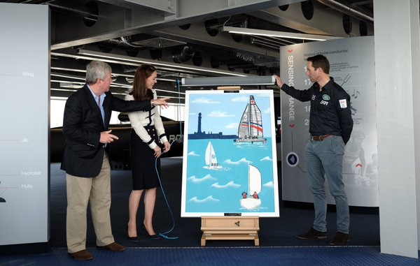 Kate unveils mural at Tech Deck May 2016