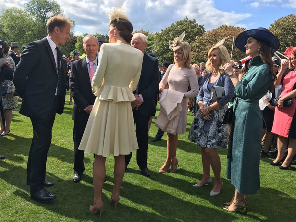 Kate with Natasha Archer and Chris Jackson at BP Garden Party