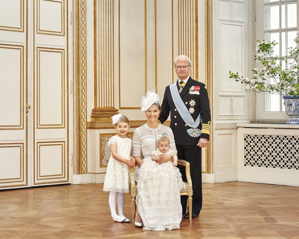 Prince Oscar's Christening CP, Estelle, Oscar, King s