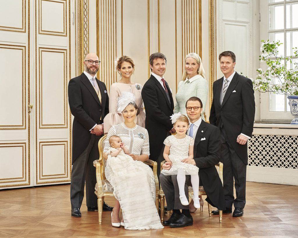 Prince Oscar's Christening CP Family Godparents s