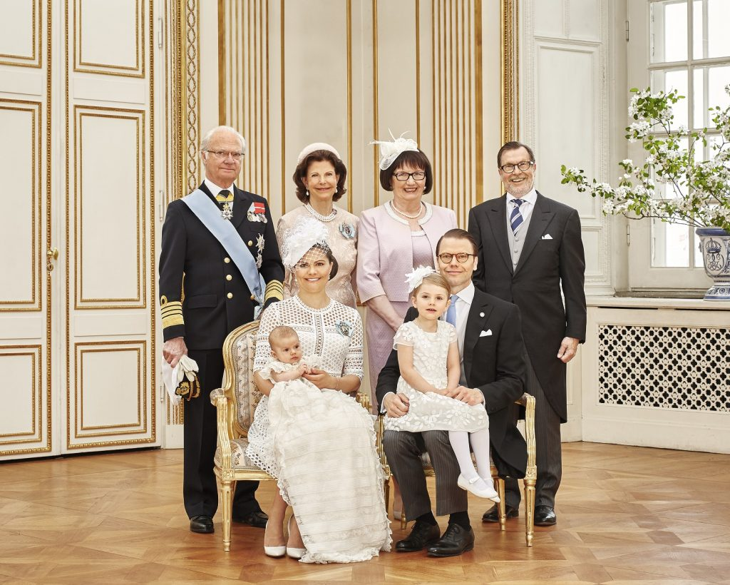Prince Oscar's Christening CP Family Grandparents s