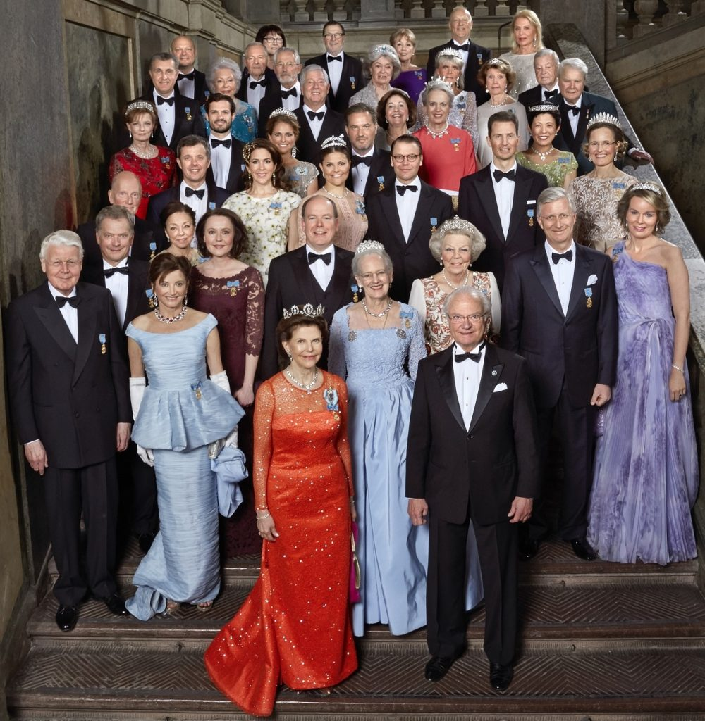 Royals at King of Sweden's 70th bday s