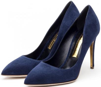 Rupert Sanderson Malory navy heels