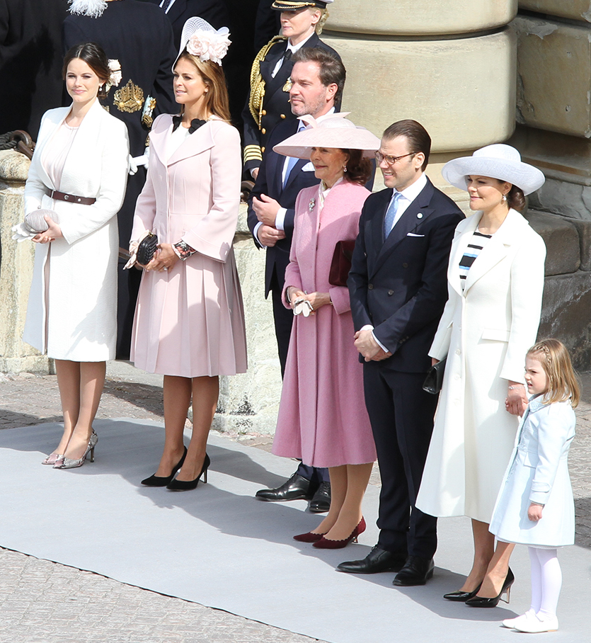 Swedish royals at King's birthday celebrations c