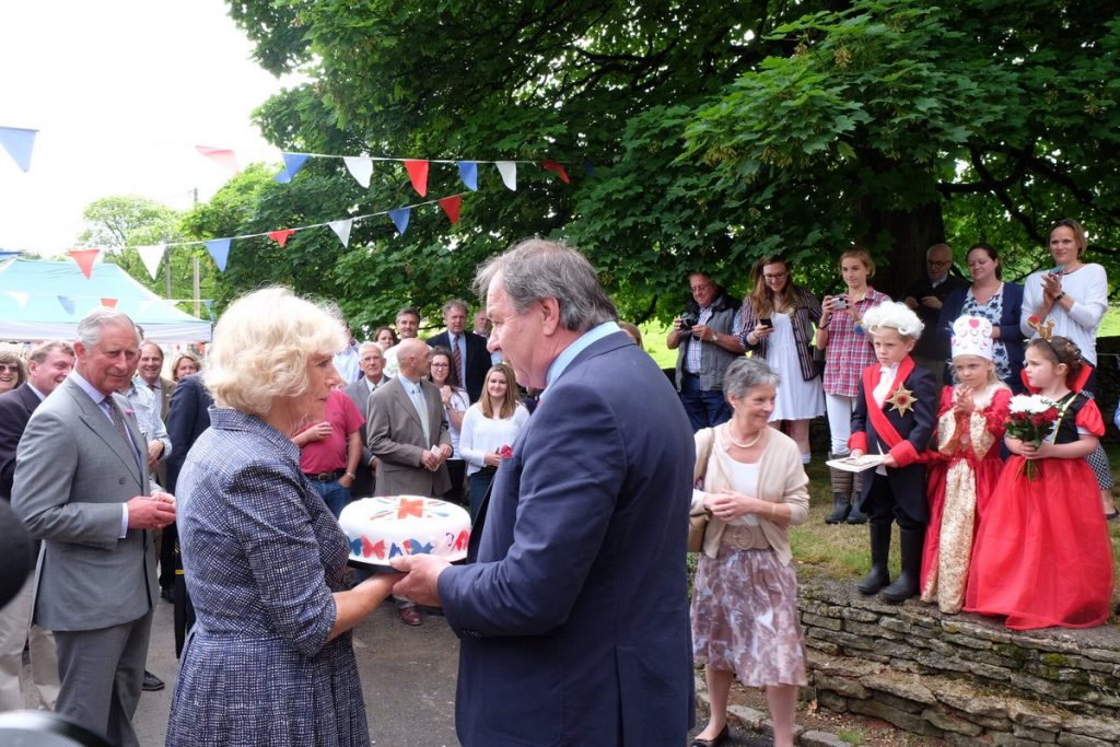 Camilla presents cake at Big Lunch