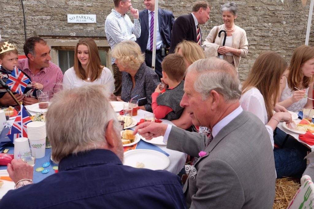 Charles and Camilla at Big Lunch