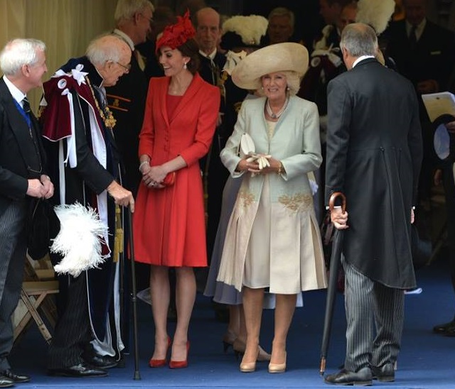 Kate and Camilla Order of the Garter 2016