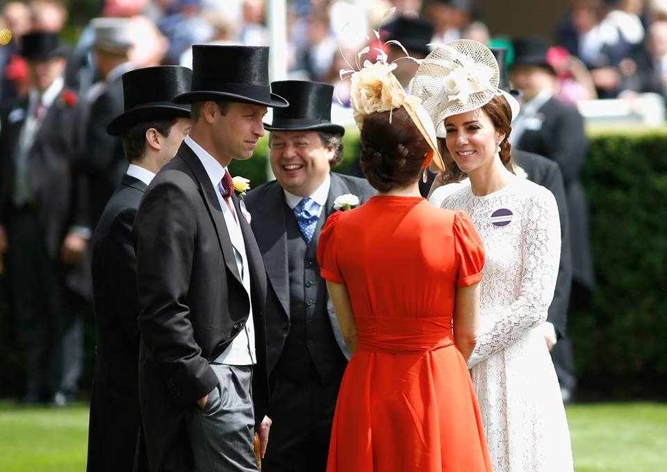 Kate and Mary at Royal Ascot 2016
