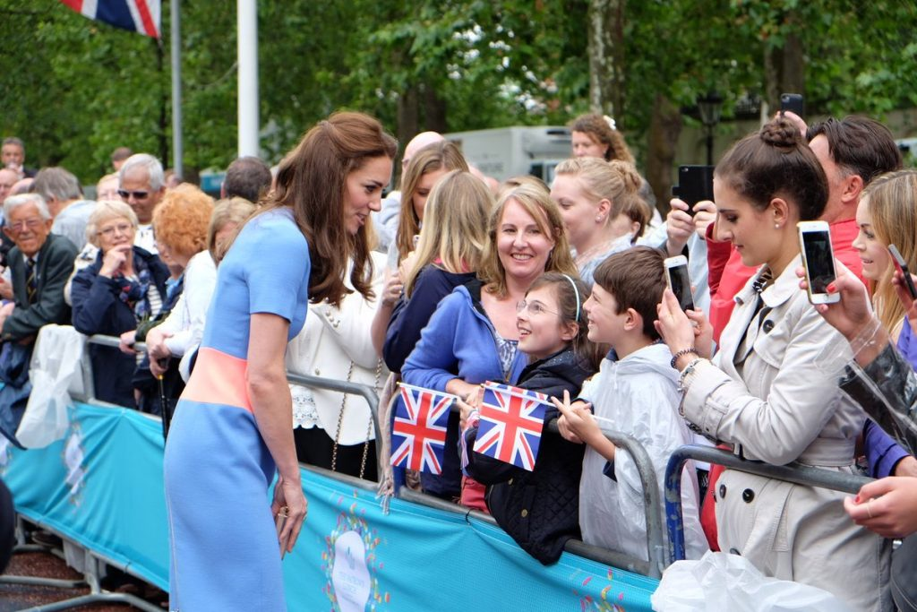 Kate meeting crowds The Patron's Lunch
