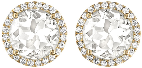 Kiki McDonough Grace White Topaz Stud Earrings