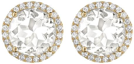 Kiki McDonough Grace White Topaz Stud Earrings