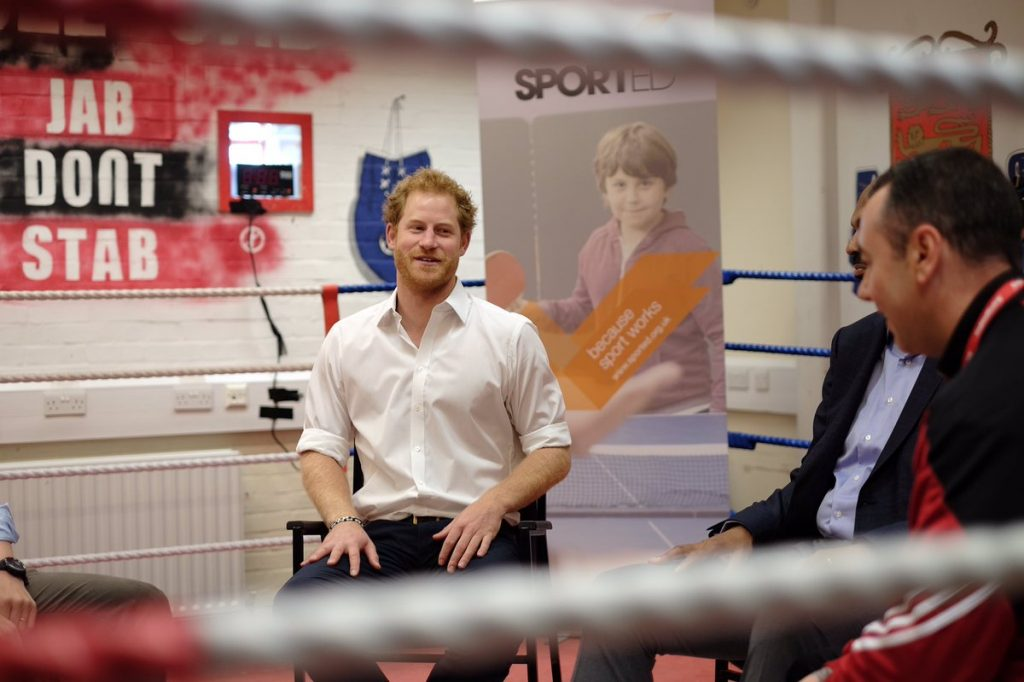 Prince Harry boxing club