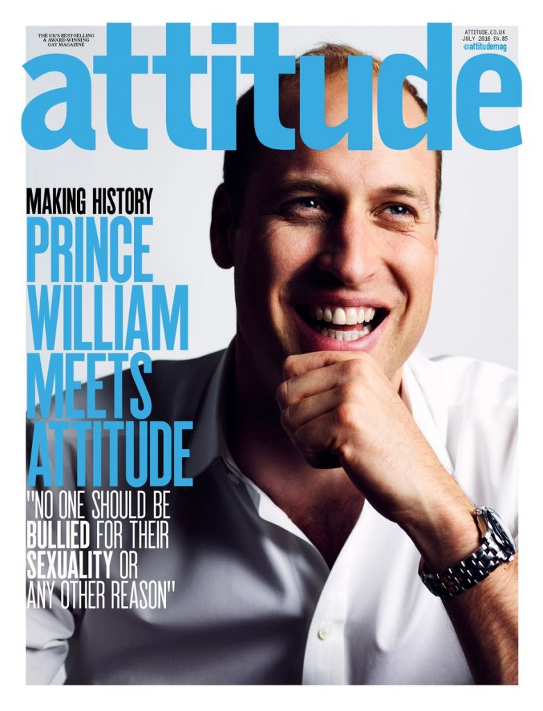 Prince William Attitude Mag cover