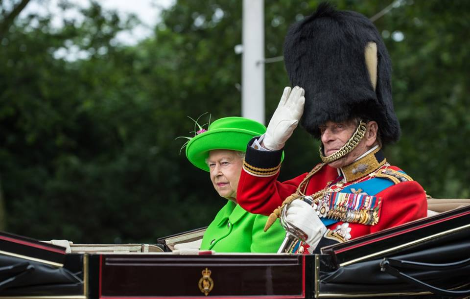 Queen and Philip Trooping the Color 2016