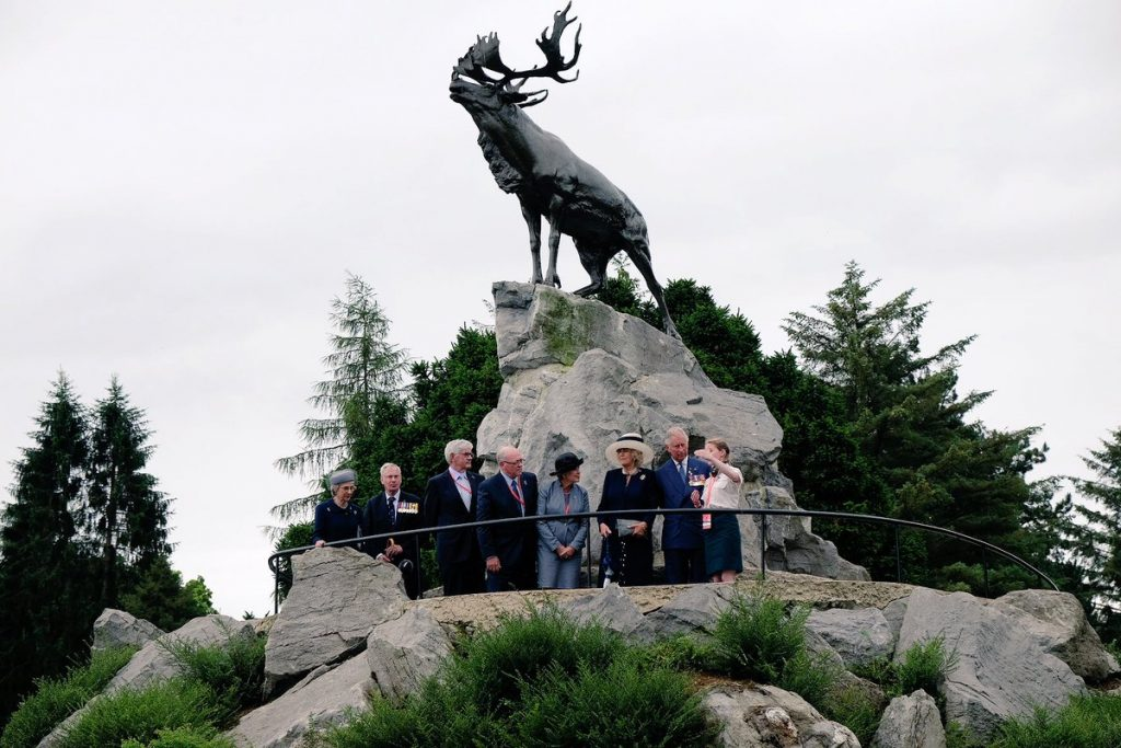 Charles and Camilla at Newfoundland Memorial Somme