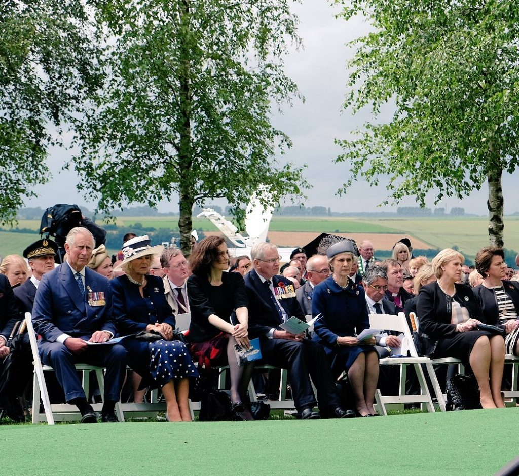 Charles and Camilla at Ulster Memorial Somme