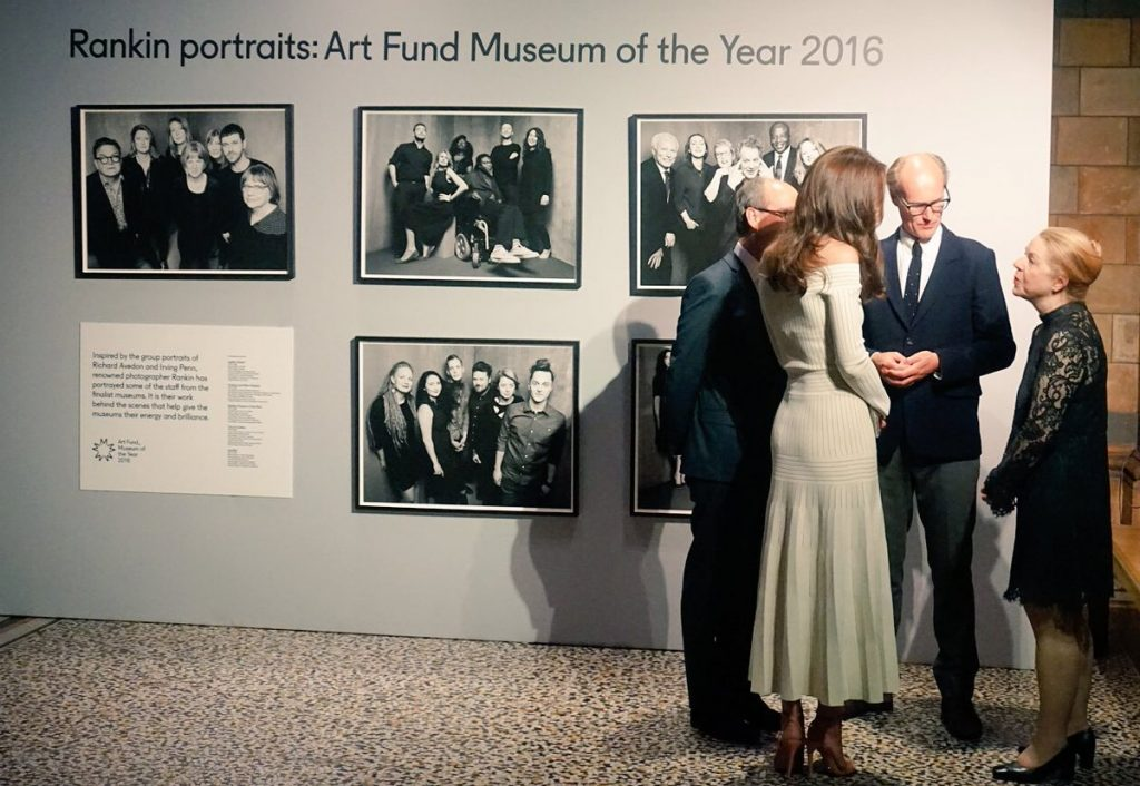 Kate Middleton meets people at Museum of the Year Award 2