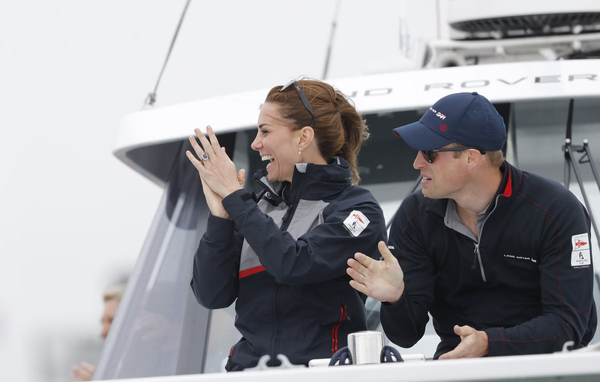 4cc3f3ac39c Kate Middleton and Prince William in Portsmouth for America's Cup ...