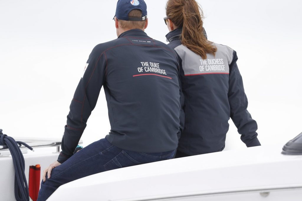 Kate and William watch sailing July 2016 2