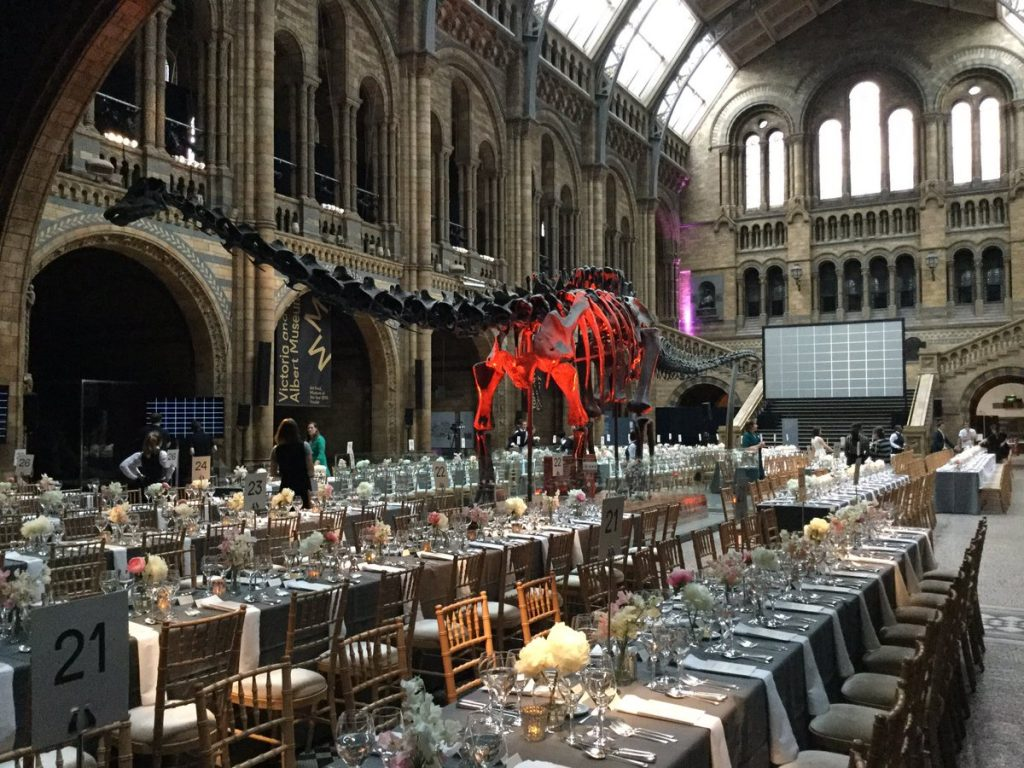 NHM Museum of the Year table setting