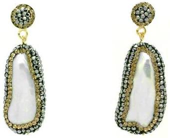 Soru Jewellery Baroque Pearl Double Sided Earrings