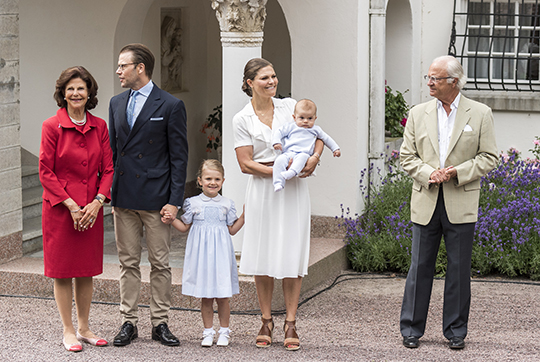 Swedish royal family on Victoria Day 2016